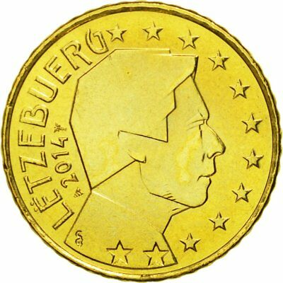 [#580412] Luxembourg, 50 Euro Cent, 2014, MS(65-70), Brass