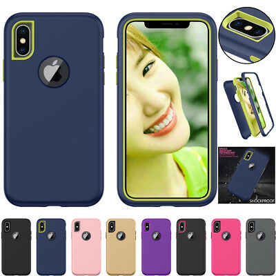 Shockproof Luxury Hard Case Armour Hybrid Cover for iPhone 7 8 6S Plus X 10
