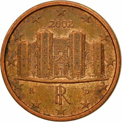 [#580669] Italy, Euro Cent, 2002, EF(40-45), Copper Plated Steel, KM:210