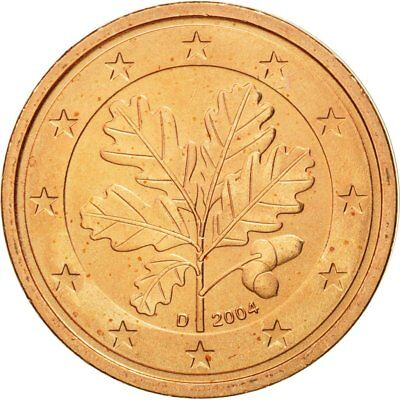 [#580523] GERMANY - FEDERAL REPUBLIC, 2 Euro Cent, 2004, MS(63), Copper Plated