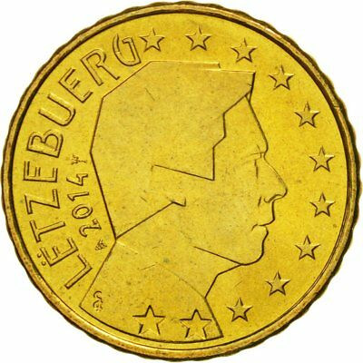 [#580410] Luxembourg, 10 Euro Cent, 2014, MS(65-70), Brass