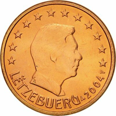 [#580609] Luxembourg, 5 Euro Cent, 2004, MS(63), Copper Plated Steel, KM:77