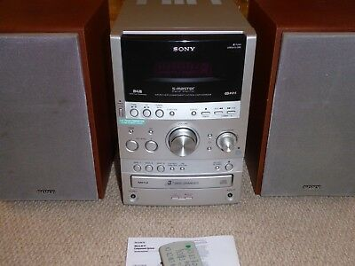 SONY CMT-SPZ90DB micro HI-FI SYSTEM. DAB, remote, aerial & instructions. SWINDON