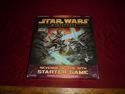 Star Wars Miniatures Revenge of the Sith Starter Game Incomplete , with extras