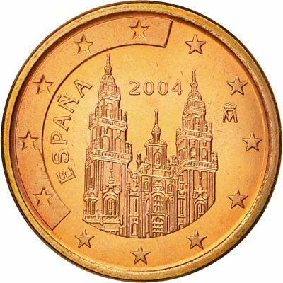 [#580546] Spain, 5 Euro Cent, 2004, MS(63), Copper Plated Steel, KM:1042