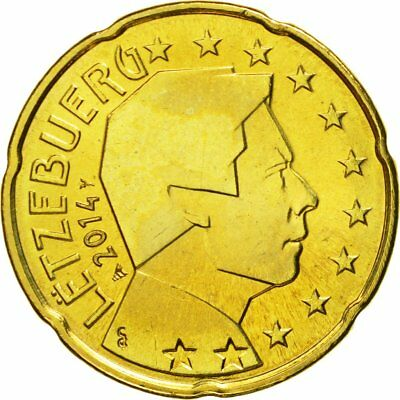 [#580411] Luxembourg, 20 Euro Cent, 2014, MS(65-70), Brass