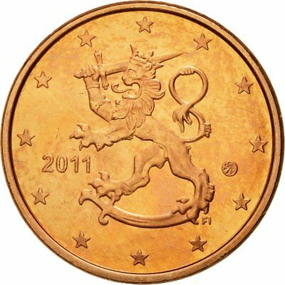 [#580367] Finland, 5 Euro Cent, 2011, MS(65-70), Copper Plated Steel, KM:100