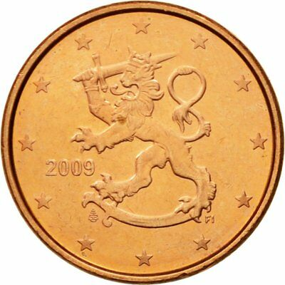 [#580645] Finland, Euro Cent, 2009, MS(63), Copper Plated Steel, KM:98