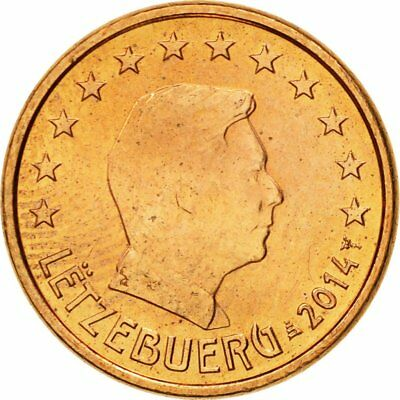 [#580407] Luxembourg, Euro Cent, 2014, MS(65-70), Copper Plated Steel