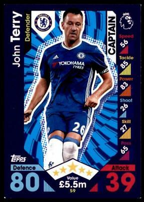 Match Attax 2016-2017 John Terry Chelsea Captain No. 59