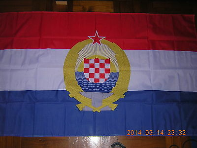NEW Reproduced Flag of Croatia under Communist Rule Pre 1992 Ensign 3ftX5ft,