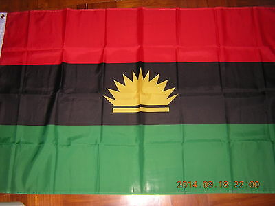 NEW reproduced Flag of Republic of Biafra 1967 - 1970 Nigeria Ensign, 3ftX5ft