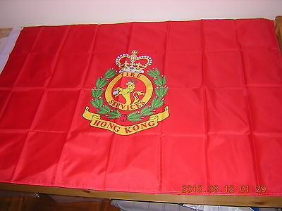 100% New Reproduced Pre 1997 British Hong Kong HK Colonial Fire Services Flag