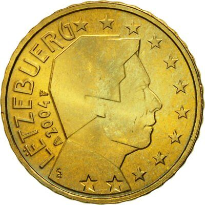 [#580608] Luxembourg, 10 Euro Cent, 2004, MS(63), Brass, KM:78