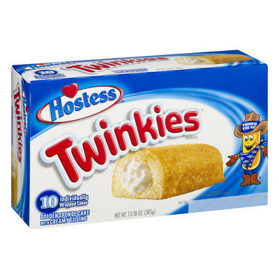 Hostess Twinkies 10 x Cakes Individually Wrapped American Candy Gift Christmas