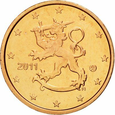 [#580366] Finland, 2 Euro Cent, 2011, MS(65-70), Copper Plated Steel, KM:99