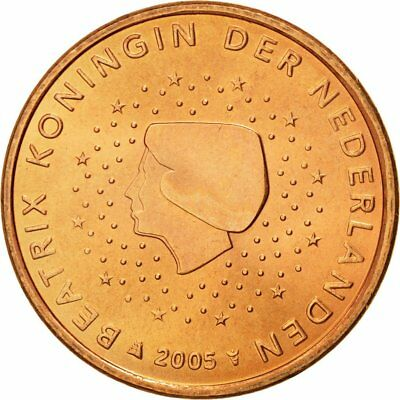 [#580375] Netherlands, 5 Euro Cent, 2005, MS(65-70), Copper Plated Steel, KM:236