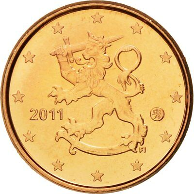 [#580365] Finland, Euro Cent, 2011, MS(65-70), Copper Plated Steel, KM:98