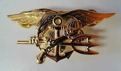 Us Naval Officers Seal Trident Breast Badge Genuine Issue