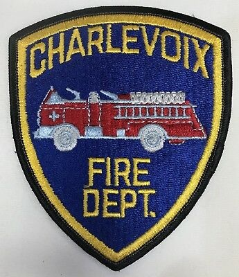 Charlevoix Fired Apartment Michigan Shoulder Patch New Truck PD MI