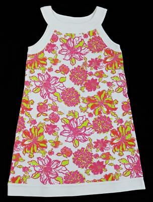 Lilly Pulitzer Girls Pink White Floral Jersey Tank Dress ~ Size 8 (7-8 e791c0a68