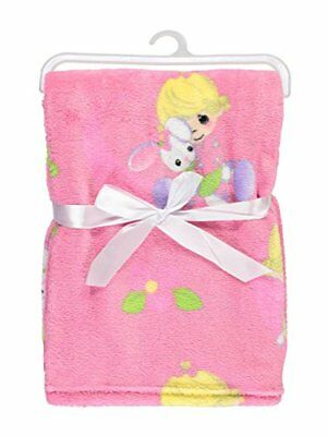 """Precious Moments """"Bunny Hugs"""" Plush Blanket - pink, one size"""