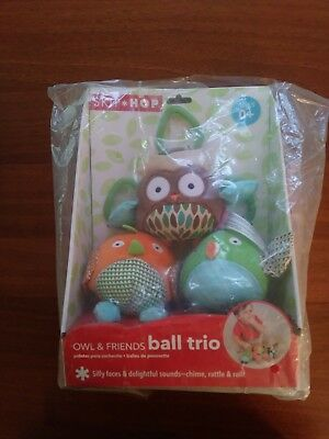 Skip Hop Owl & Friends Ball Trio - NIB