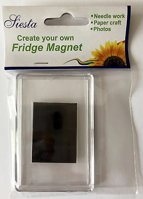 Siesta Frames Plastic Empty Fridge Magnet for needlework, papercraft, photo etc