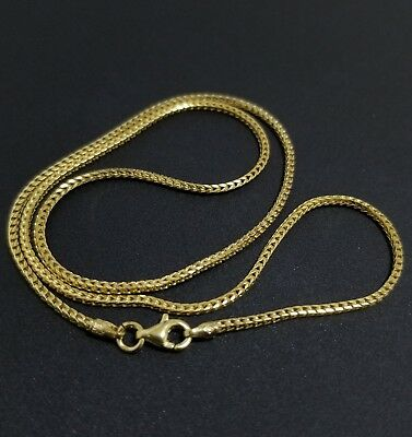 368e4a196f66d MENS FRANCO CHAIN Necklace 14k Yellow Gold Plated Sterling Silver ...