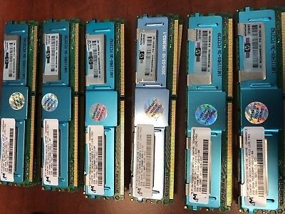 Lot of 12 HP 455263-061 DDR2 2GB  PC2-5300 ECC 667Mhz 2Rx4 RAM Memory Micron