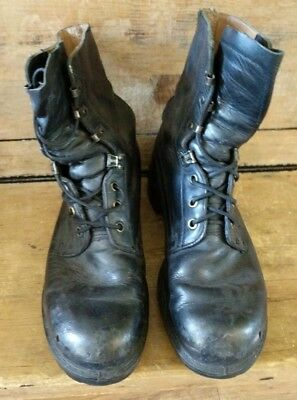 British Army Issue Black Leather Combat Boots 10M 278/101 8430999787862 FREE P&P