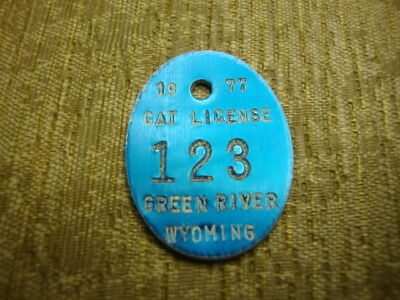 1977 Green River, Wyoming, Cat, License, Tag, Tax, # 123