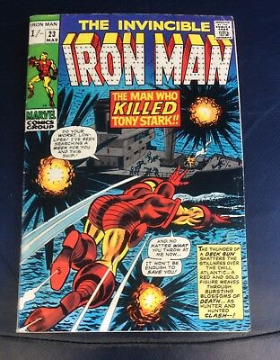 The Invincible Iron Man #23, An Early Bronze Age From 1970.