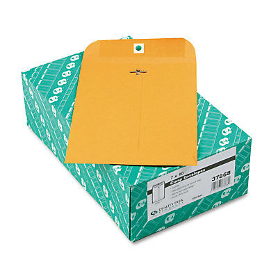 Quality Park Clasp Envelope 7 x 10 28lb Brown Kraft 100/Box 37868