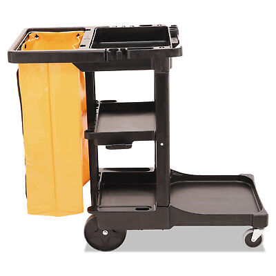 Rubbermaid Commercial Multi-Shelf Cleaning Cart Three-Shelf 20w x 45d x 38-1/4h