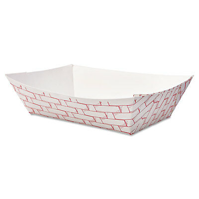 Boardwalk Paper Food Baskets 2lb Capacity Red/White 1000/Carton 30LAG200