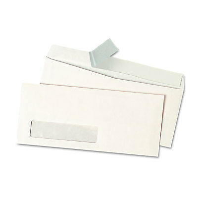 UNIVERSAL Peel Seal Strip Business Envelope #10 4 1/8 x 9 1/2 Window White 500