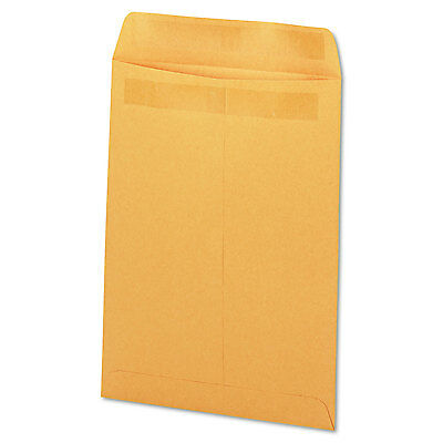 UNIVERSAL Self Stick File Style Envelope 10 x 13 Brown 250/Box 35292