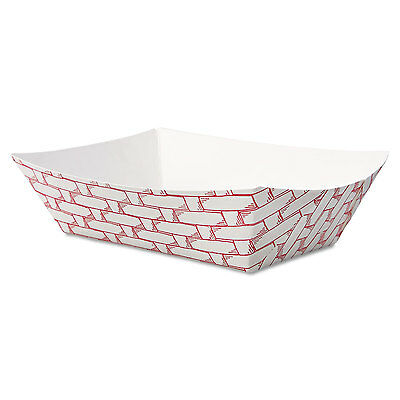 Boardwalk Paper Food Baskets 1/2 lb Capacity Red/White 1000/Carton 30LAG050
