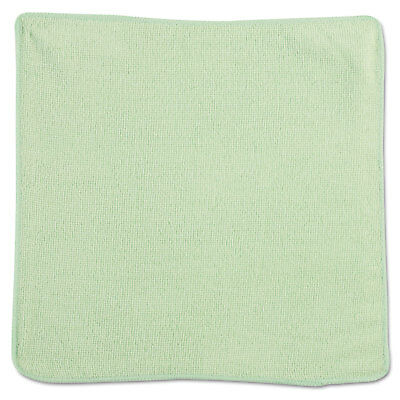 Rubbermaid Commercial Microfiber Cleaning Cloths 12 x 12 Green 24/Pack 1820578