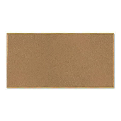 MasterVision Value Cork Bulletin Board with Oak Frame, 48 x 96, Natural