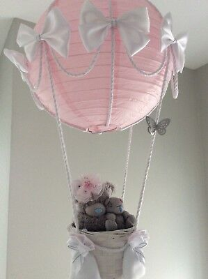 Hot air balloon light shade with mummy and baby bear,