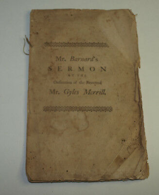 Antique Booklet with Printed Sermon 1765, Pastor of First Church In Haverhill MA