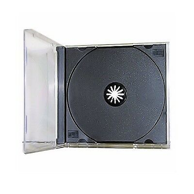 25 New Single Standard Black CD DVD Jewel Case Assembled 10.2mm [FREE SHIPPING]