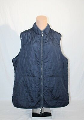 Old Navy Womens Blue Light Weight Textured Quilted Zip Vest Plus Sz-4X Fall