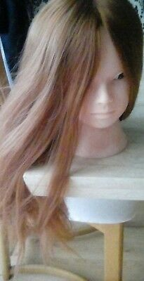 mannequin head for hair styling synthetic