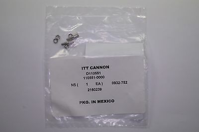 "D110551 ITT Cannon Jackscrew Socket Kit for D-Sub Connectors 0.220"" 4-40 NOS"