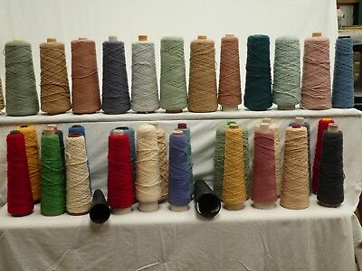 Yarn For Rug Making, 12 Kg Approximately Of Wool, Assorted Colours, 33 Cones