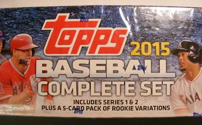 2015 Topps Baseball Card set, 700 cards, series 1 & 2, 5 card pack of rookies