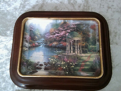 THOMAS KINKADE NATURE'S RETREAT COLLECTIBLE PLATE LIMITED EDITION Oblong